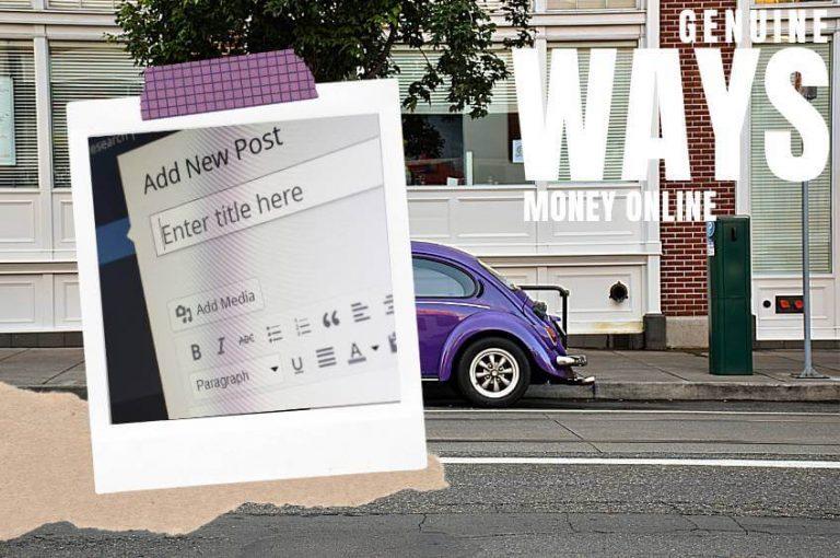 Genuine Ways To Make Money Online